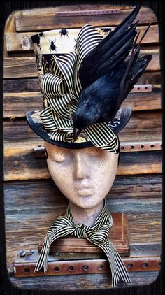 Ode to Poe. Nevermore Raven hat. Lady Bird's Hatberdashery