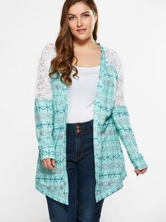 Crochet Tops Hollow Out Knitted Sweaters Cardigan Cute Fashion, Plus Fashion, Womens Fashion, Plus Size Stores, Plus Clothing, Plus Size Cardigans, Collars For Women, Woman Beach, Summer Tops