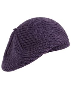 Purple cashmere beret, Johnstons