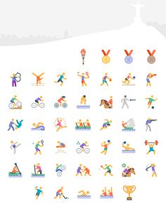 Freebie: Olympics Sports Icon Set designed by Icons8 (45 Icons, EPS, PDF, PNG, SVG)