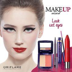Amas los #CatEyes pero nunca los has llevado porque no tienes el delineador ideal para lograr el look. En #MakeupWizard podrás probar este look sobre tu rostro y después, adquirir los productos para intentarlo tú misma. #Look #Delineado #Makeup #OriflameMx