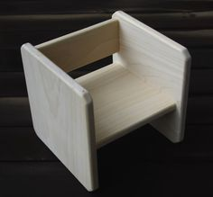 small solid wood cube chair for infants toddlers toddler chair montessori chair montessori furniture weaning chair