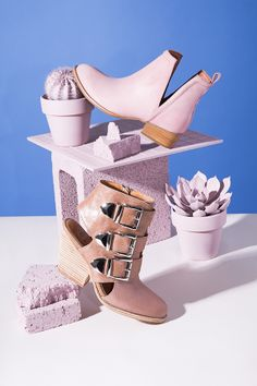@Jeffrey Campbell Muskrat Leather Boot in Blush (http://www.nastygal.com/shoes-brands-jeffrey-campbell/jeffrey-campbell-muskrat-leather-boot--blush?utm_source=pinterest&utm_medium=smm&utm_term=email_imagery&utm_content=omg_shoes&utm_campaign=pinterest_nastygal) + Coburn Ankle Boot in Taupe…