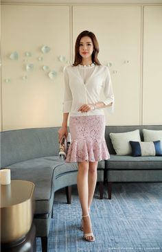 Korean Women`s Fashion Shopping Mall, Styleonme. Gorgeous Women, Beautiful, Pay By Credit Card, Korean Women, Asian Beauty, Korean Fashion, Lace Skirt, Knitwear, Fashion Accessories