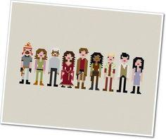 Serenity's crew #Firefly cross-stitch