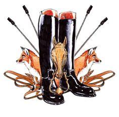 Fox Hunting Emblem by williamkdavis on Etsy, $25.00