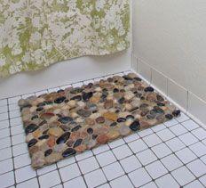 Diy dollar tree river rock door mat diy dollar store for River stone bath mat