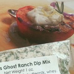 Hottest Recipe! Grilled Peaches with Ranch-Spiced Goat Cheese  #NationalRanchDressingDay!  www.ghostpepperZ.com  #ranchdressingday #peachy #ghostpepperZ
