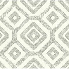 """York Wallcoverings Modern Shapes 27' x 27"""" French Knot Wallpaper Color: Cream/Taupe"""