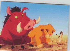 Walt Disney's The Lion King - Simba, Pumba the pig Trading Card