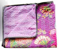 Plum Baby Blanket;  inspirational for hand stitching a whole-cloth quilt.