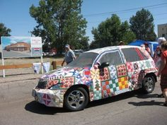 Patchwork car at the Houston International Quilt Festival | Fun ... : sisters quilt festival - Adamdwight.com