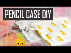 DIY Easy Pencil Cases: No Sew Tutorial | jayjaypearl - YouTube