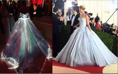 claire danes in fiber optic ballgown by Zac Posen at the 2016 met gala