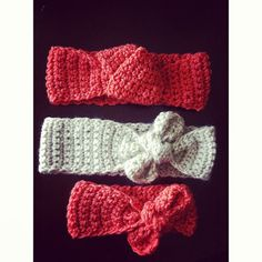 Women's & Baby Girl Crochet Bow Headband Custom Any by MAMAOWLSHOP, $12.00