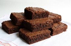 Brownies - super easy and had all the ingredients on hand. Threw in some chocolate chips with the walnuts at the end. JS