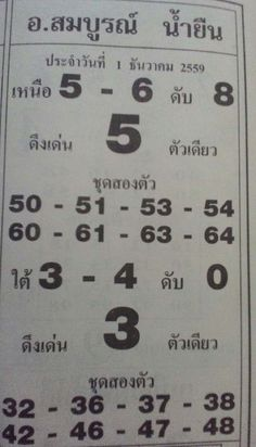 Latest Magazine new tip paper Thai lottery 1 December 2016, Amazing game tips for pairs 3d,4d,single sure tass up and down Thailandlotto result 1 12 2016