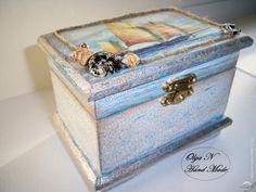 Воспоминания о море..http://dcpg.ru/blogs/15800/Click on photo to see more! Нажмите на фото чтобы увидеть больше! decoupage art craft handmade home decor DIY do it yourself box