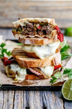 Cafe Delites | Steak Fajita Grilled Cheese | http://cafedelites.com