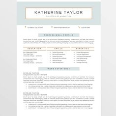 Resume Templates Word Modern Resume Template  Cv Template  Cover Letter  Professional