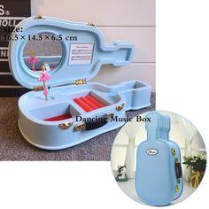 Classic Rotating Dancer Ballerina Piano Music Box Clockwork Plastic Jewelry Box Girls Hand Crank Music Mechanism Christmas Gift - 04
