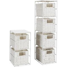 Buy 2 Piece White Storage Tower At Argos.co.uk, Visit Argos.