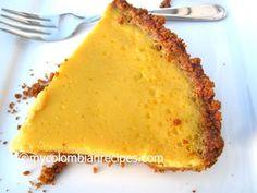 Mango Pie  (Pastel de Mango) mycolombianrecipes.com   By:   Erica Dinho