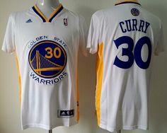 Golden State Warriors #30 Stephen Curry Revolution 30 Swingman White Short-Sleeved Jersey