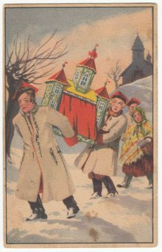 Wesołych Świąt 1935 szopka krakowska (2)