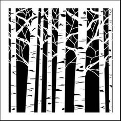 Art made easy! The Crafter's Workshop® Aspen Trees template allows you to stencil, trace, sponge, chalk and more. Shop a variety of stencil templates. Arte Art Deco, Paper Art, Paper Crafts, Tree Stencil, Leaf Stencil, Stencil Templates, Tree Templates, Printable Stencils, Stencil Printing