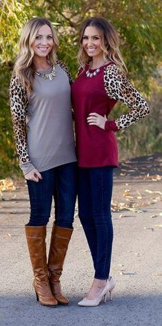 Leopard Print Contrast Tunic!