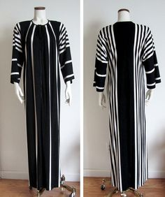 vintage 60s mod womens loungewear black & white striped Mad Men by theSidewalkRunway, $40.00 / Etsy