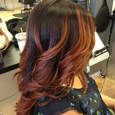 Love the red for my ombre. Transition time for fall