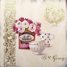 Vintage Flower Art Style_(26 Adet) | Dekupaj Desenleri