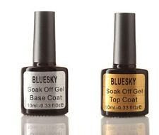 What's the difference between Bluesky Professional Manicure and professional gel manicure ranges I've seen in salons? Can I mix products from other gel manicure ranges with the Bluesky Professional Manicure products? Bluesky Nail Polish, Bluesky Gel, Uv Gel Nail Polish, Uv Gel Nails, Gel Manicure, Base Coat, Top Coat, Soak Off Gel, Uv Led