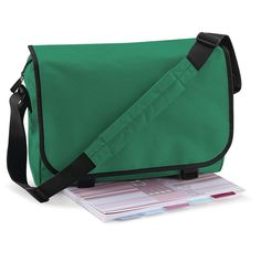 Classic Messenger Bag - Green Shown. Great Schools, Bottle Bag, Green Bag, Cool Things To Buy, Stuff To Buy, Diaper Bag, Gym Bag, Satchel, Colours