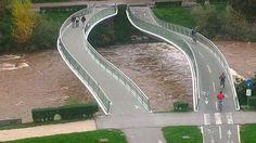 Pedestrian and bicycle bridge in Bolzano/ by Krüger Schuberth Vandreike