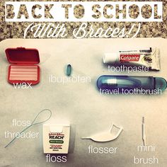 To Your Manhattan Beach Orthodontist Back-To-School (With Braces! Braces Food, Braces Tips, Dental Braces, Teeth Braces, Braces Humor, Dental Hygiene, Dental Health, Dental Care, Oral Health