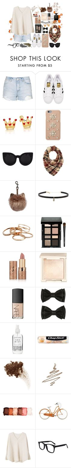 """""""TGIF"""" by lorna-castillo ❤ liked on Polyvore featuring Topshop, adidas Originals, MICHAEL Michael Kors, Delalle, Charlotte Russe, Carbon & Hyde, Kendra Scott, Bobbi Brown Cosmetics, tarte and Jouer"""