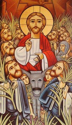 Artwork of Jesus Christ Our Savior Religious Images, Religious Icons, Religious Art, Church Icon, Religion, Christian Pictures, Church Banners, Palm Sunday, Jesus Pictures