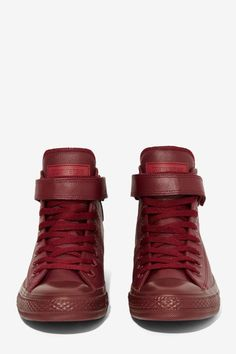 Converse Chuck Taylor Brea Leather Sneaker - Burgundy - Shoes   High-Tops