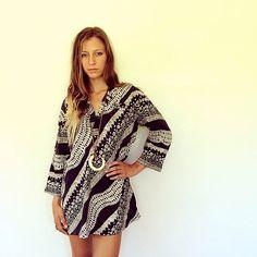 Hindi Shirt Dress // vintage 70s cotton blouse top by FenixVintage, $42.00