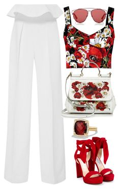 White & Red Roses by carolineas on Polyvore featuring polyvore, moda, style, Dolce&Gabbana, Jimmy Choo, David Yurman, Christian Dior, fashion and clothing