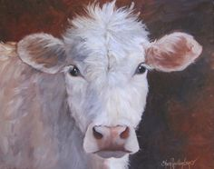 Animal Painting,Lizzy Has Bad Hair Day, 16x20 Original Oil Canvas Painting by Cheri Wollenberg