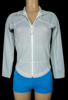LULULEMON Forme Jacket Size 6 S Small Black White Polka Dot Run #Lululemon #CoatsJackets