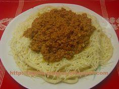 Τα φαγητά της γιαγιάς - Μακαρόνια με κιμά (μπολονέζ)