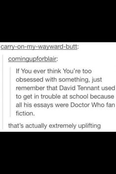 David Tenant fangirling over #DoctorWho