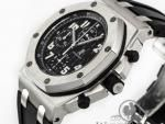 """Audemars Piguet Royal Oak Offshore Chronograph - Black """"Themes"""" Dial - 44mm Stainless Steel - Ref. 26020ST.OO.D001IN.01.A"""