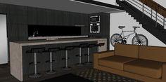 Kitchen mockup v2 Central Building, New York Style, Mockup, Loft, Interior Design, Kitchen, Nest Design, Lofts, Cuisine