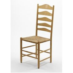 Chair. Place of origin:Rugby, England (made). Date:1971. Artist/Maker:Ernest William Gimson (designer).  Neal, Neville (maker). Materials: Turned and bent ash, with a rush seat.